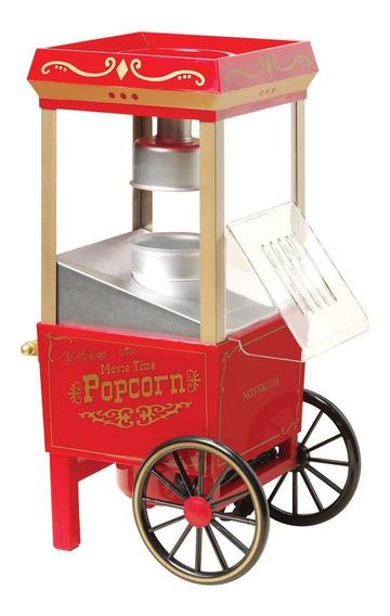 Máquina de palomitas Nostalgia OFP501 aire caliente roja 1080W 120V