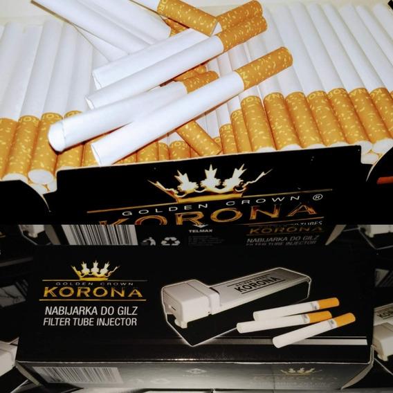 Maquina De Relleno + 200 Filtros Tubo Cigarriillos Vacios