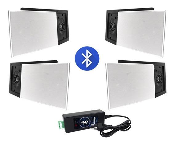 Kit Som Ambiente Aat Bluetooth 4 Caixas De Embutir Top!
