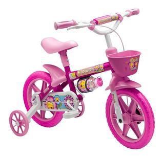 Bicicleta Infantil Meninas Aro12 Flower - Nathor