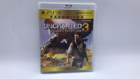 Uncharted 3 Drakes Deception - Ps3 - Midia Fsica Em Cd