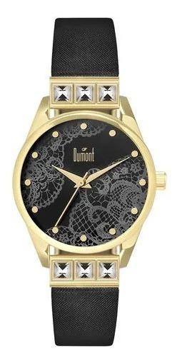 Relógio Feminino Analógico Preto/dourado Dumont Du2035lwl/2p