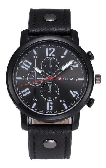 Reloj Caballero Viser Casual Moda Piel