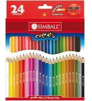 Lapices Color Simball Largos X 24 Lapices Pinturitas