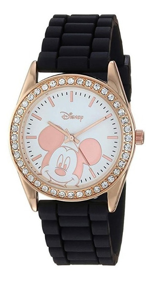 Reloj Mickey Mouse - Disney - Dorado Rosa Con Brillantes