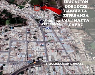 Vendo Dos Lotes De Terreno Reque (chiclayo) Zona Urbana