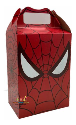 Imagen 1 de 1 de Spiderman 50 Cajitas Dulcero Bolos Aguinaldos Recuerdos