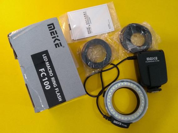 Anel Flash Macro Meike Fc100 Canon Nikon Pentax Olympus