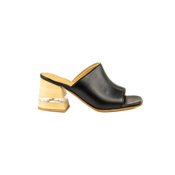 Zapato Lucerna Sandalia Taco Acrilico