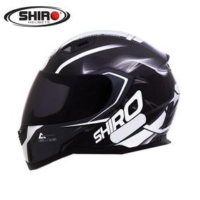 Capacete Shiro Sh881 Motegi Preto/branco