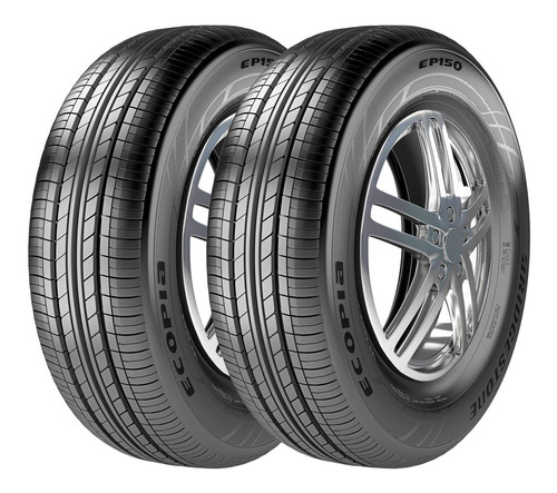Imagem 1 de 5 de Kit 2 Pneus Bridgestone Aro 15 Ecopia Ep150 185/65r15 88h