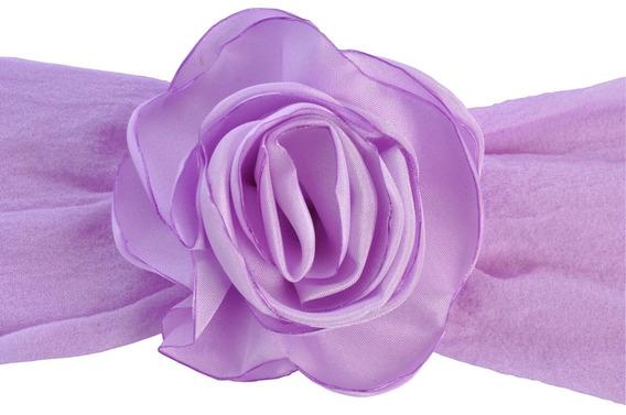 Faixa De Seda Com Rosa Colombiana Lilás Lavanda