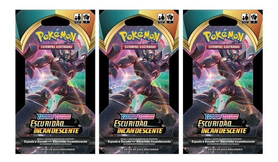 12 Pokemon Blister Unitario Ee3 Escuridão Incandescente
