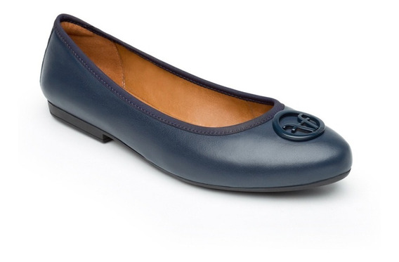 Zapatos Dama Mujer Flexi Flats Azul Casuales Cómodos