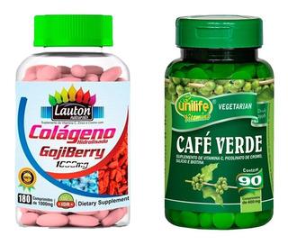 Colágeno Com Goji Berry 180 + Café Verde - 90 Comprimidos.