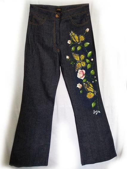 Jeans Pintados A Mano