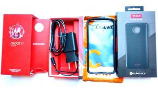 Celular Z2 Force 64gb + Snap Wood + Snap Carregador 2200mah