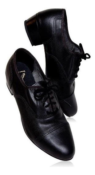 Sapato Masculino Para Dança De Salão Capezio Em Couro Cj03
