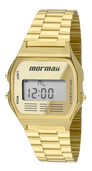Relógio Mormaii Dourado Digital Vintage Mojh02ab/4d Original
