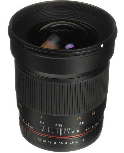 Lente Rokinon 24mm F/1.4 Ed Para Nikon Full Frame