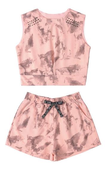 Conjunto Infantil Blusa E Shorts Gloss