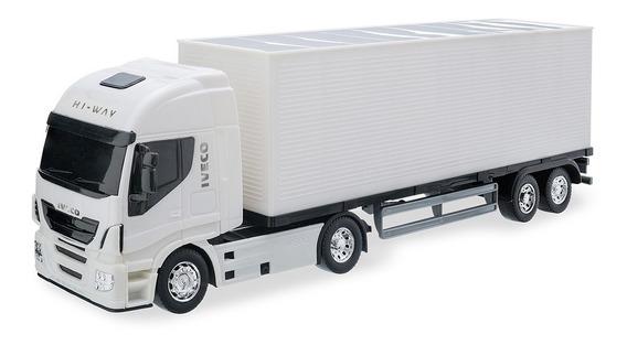 Caminhão Carreta Iveco Hi Way Baú Menino - Usual Brinquedos