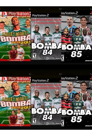Futebol Bomba Patch 85 Ps2 Com 3 Jogos