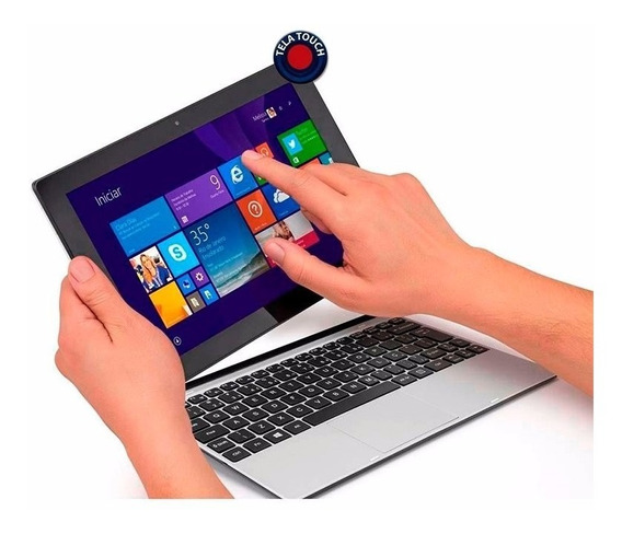 Notebook 2 Em 1 Touch Tablet Positivo Duo Zx3015 - Lindo Top