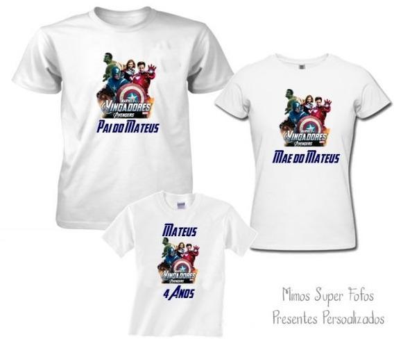 Kit 3 Camisetas Angry Bird Personalizadas Aniversário