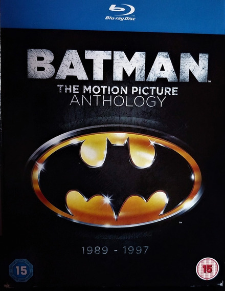 Blu Ray Batman Motion Picture Anthology 1989-1997 4 Movies
