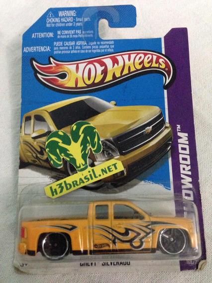 Bx131 Hot Wheels 2012 Chevy Silverado Amarela Pickup H3br