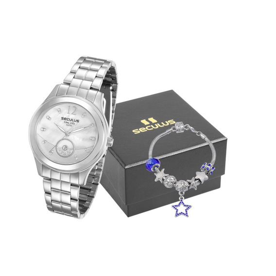 Kit Relógio Feminino Seculus 23522l0svna2 Promo Dia Dos Pais