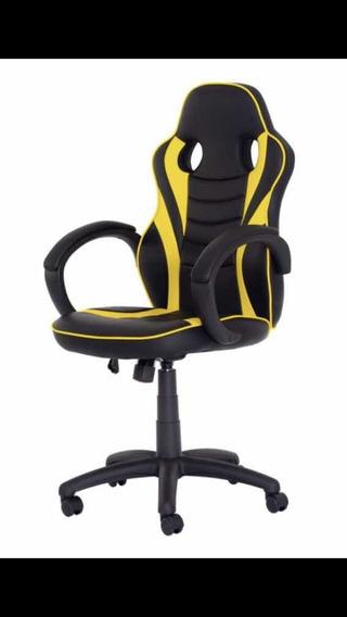 Cadeira Gamer Preta Com Amarelo
