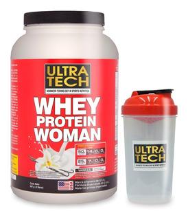 Whey Protein Woman X 907 Grs + Shaker De Regalo Proteína Para La Mujer Ultra Tech