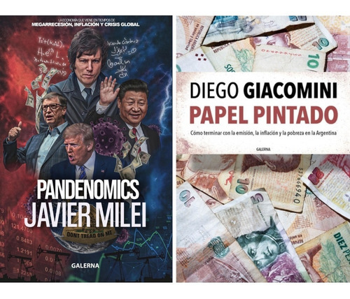 Imagen 1 de 4 de Papel Pintado + Pandenomics (2 Libros) - Milei Giacomini