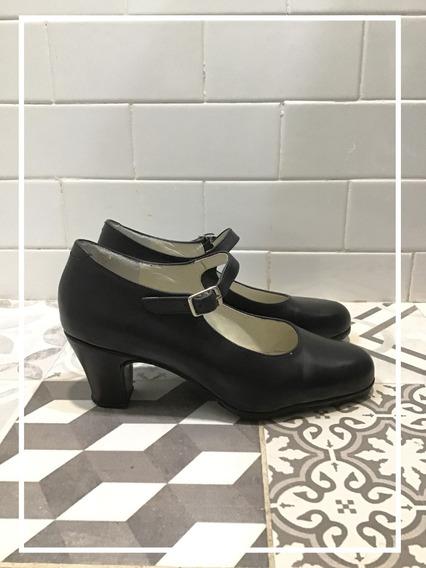 Zapatos De Flamenco Talle 36, Muy Poco Uso!