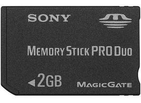 Cartão De Memória Stick Pro Duo Sony 2gb -original Lacrado