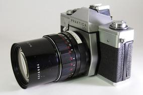 Câmera Praktica Ltl + Lente Pentacon Auto 1:2.8 F= 135mm