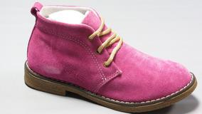Zapatos Botita Gamuza Cordon Korek Art 1000
