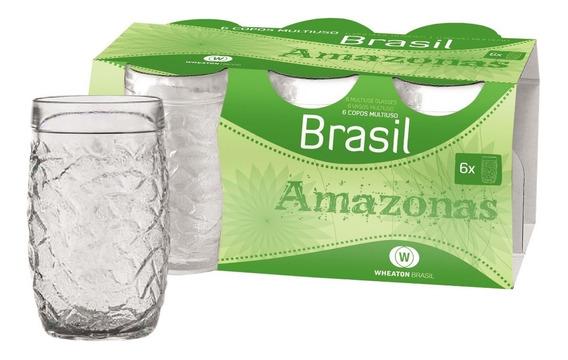 Set De 8 Vasos Amazonas 320cc