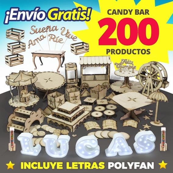 Candybar + 5 Letras Polyfan Led Candy Bar - Envío Gratis !
