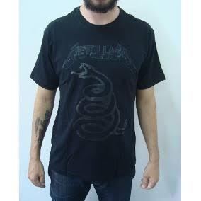 Camiseta Metalica Black Album Stamp Rockwear