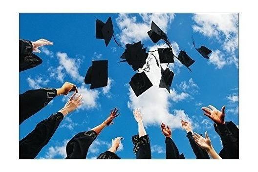 Sombrero De Graduación Banner De Fondo (3 Piezas Por Conjunt