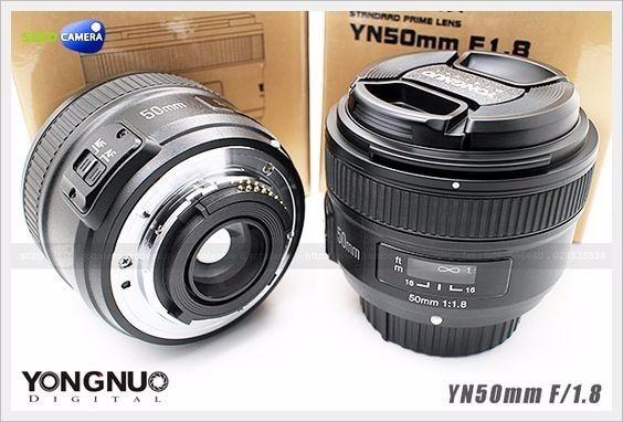 Lente Yongnuo 50mm F/1.8 Nikon + Parasol Brinde