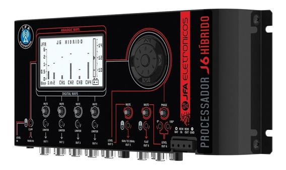 Crossover Digital Jfa J6 Processador Áudio 6 Vias Limiter