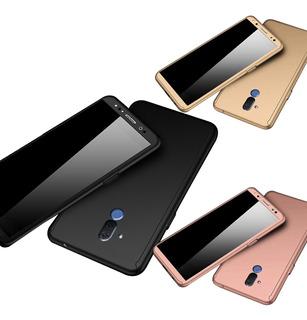 Huawei Mate 20 Lite Estuche Forro 360 + Vidrio Templado 2d