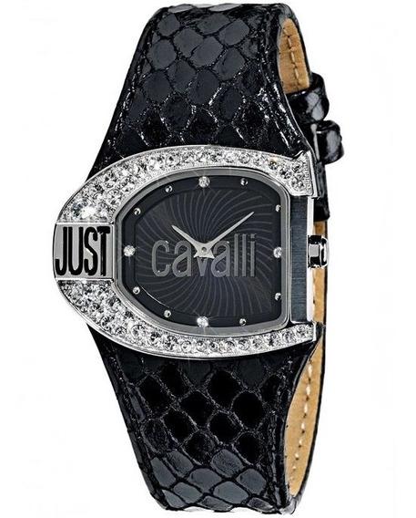 Relógio Feminino Original Pulseira De Couro Legítimo Preto