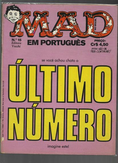 Lote De 6 Revistas Mad - Anos 70 - Editora Vecchi
