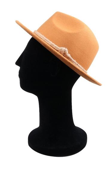 Chapéu Fedora Caramelo Aba 6,5cm Com Cordão Premium Fashion!