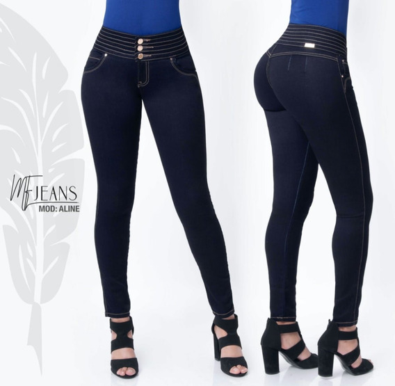 Jeans Mf By Fergino Pretina Ancha Corte Colombiano Push Up